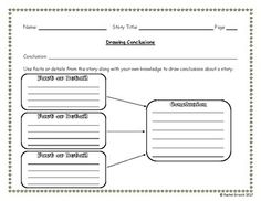 Reading Street Drawing Conclusions Sheet