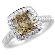 Jewelry Point - 2.83ct VS1 Cushion Champagne Diamond Engagement Ring 18k Gold, $7,930.00 (http://www.jewelrypoint.com/2-83ct-vs1-cushion-champagne-diamond-engagement-ring-18k-gold/)