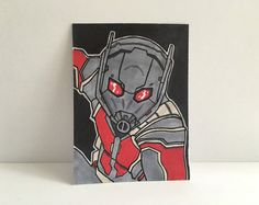 "2.5""x 3.5"" Antman Civil War Sketch Card"