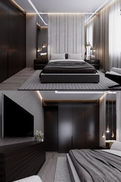 Innovative lighting enhances any type of bedroom style. These creative instances… Innovative lighting enhances any type of bedroom style. These creative instances that show you methods to brighten the room will certainly assist you. Luxury Bedroom Design, Modern Master Bedroom, Modern Bedroom Decor, Home Room Design, Master Bedroom Design, Minimalist Bedroom, Home Bedroom, Home Interior Design, Bedroom Ideas