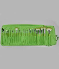 24pcs Pro Makeup Brushes Cosmetic Make Up Brush Set with Bag-Green 14.33