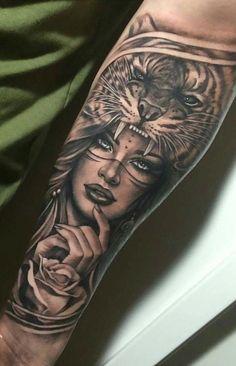 36 Ideas for womens tattoos forearm art designs - Sleeve tattoos for women - Tattoo Girls, Wolf Girl Tattoos, Indian Girl Tattoos, Tattoo Women, Indian Women Tattoo, Indian Tattoo Design, Woman Tattoos, Woman Face Tattoo, Mädchen Tattoo
