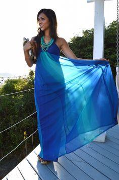 Fortune ombre maxi dress