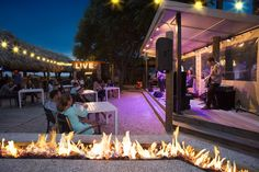 Dance the night away at Tiki Hut with nightly live music on the beach