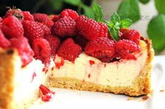 Sernik aksamitny, sernik, sernik z malinami, maliny, Velvet cheesecake, cheesecake, cheesecake with raspberries, raspberry