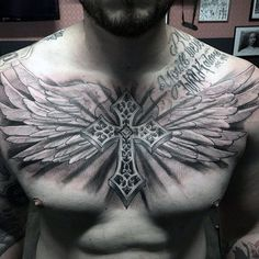 ... Chest Tattoos on Pinterest | Male chest Traditional chest tattoo and
