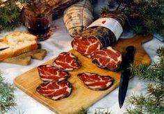 Trois produits de Charcuterie Corse en AOP: Coppa de Corse, Lonzo de Corse Lonzu et Jambon sec de Corse Prisuttu : LYON SAVEURS