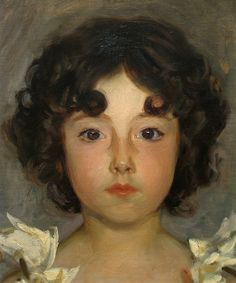 By John Singer Sargent--one of my favorite artists of all time. Look at the presence of the face.