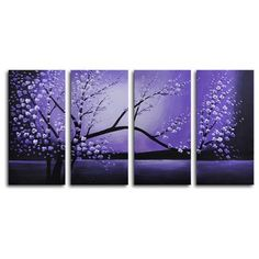 My Art Outlet Winter Solstice 4 Piece Print of painting on Canvas Set