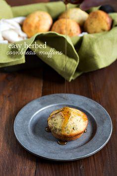 Easy Herbed Cornbread Muffins