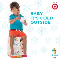 When caring for your baby's sensitive #WinterSkin sends shivers down your spine, cool your nerves with #bloomBaby wipes from #Target. They are specially formulated for rash and eczema prone skin. #WinterSkinCare #NaturalBaby #SensitiveSkin