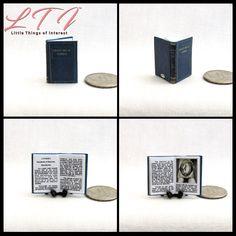 1:12 SCALE MINIATURE BOOK THE THREE BEARS WALTER CRANE DOLLHOUSE SCALE