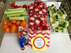 Super Mario bros party food ideas theme party ideas DIY project idea Kids boys girls neutral party Lifestyle Military Spouse