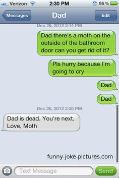 Funny SMS/Text Dad Moth
