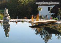 Schwimmteich mit Badesteeg Terrace, Carpentry, Water Pond, Swim