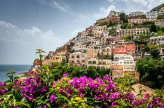 The town of Positano on the Amalfi Coast, Italy