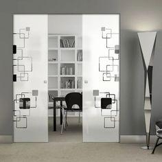 Glass Pocket Doors – Page 11 Glass Pocket Doors, Sliding Glass Door, The Doors, Creative Design, Floor Plans, Hardware, Contemporary, Interior, Room