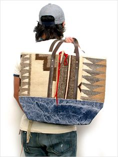 J.AUGUR DESIGN(ジュディオーガーデザイン) TOTE BAG/トートバッグ MADE IN USA/アメリカ製 ヴィンテージラグ - 物欲がなくなってきたヽ(´ω`)ノ