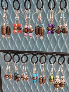 Boulder & beads earrings.