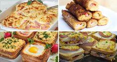 Vyskúšajte si pripraviť tieto jednoduché rýchlovky z toastového chleba. Baked Potato, Sausage, French Toast, Baking, Breakfast, Ethnic Recipes, Food, Kitchen, Handmade Crafts