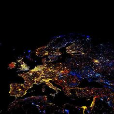 Funny pictures about Europe at night. Oh, and cool pics about Europe at night. Also, Europe at night photos. What A Wonderful World, Beautiful World, Beautiful Scenery, Wonderful Places, Beautiful Space, Simply Beautiful, Absolutely Gorgeous, Europe News, Central Europe