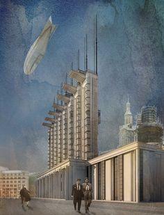 City of the Sun (Civitas Solis, Город солнца), Proyect, Ivan Leonidov, arquitecto constructivista
