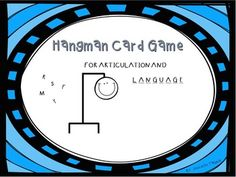 Free! Hangman Cards for Articulation and Language