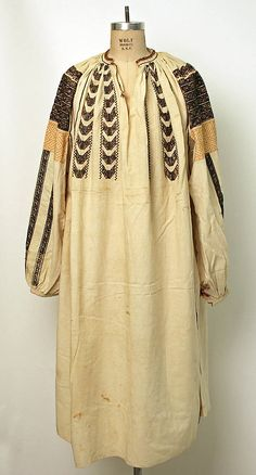 Ensemble Date: Culture: Romanian Medium: cotton, wool, glass Folk Costume, Costumes, Historical Costume, Metropolitan Museum, Romania, Tunic Tops, Style Inspiration, Cotton, How To Wear