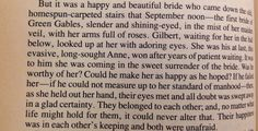 Anne of Green Gables- Gilbert and Anne's wedding This was a reading at my wedding love love love