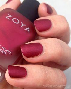 Zoya Posh, Matte Velvet collection #zoyanailpolish