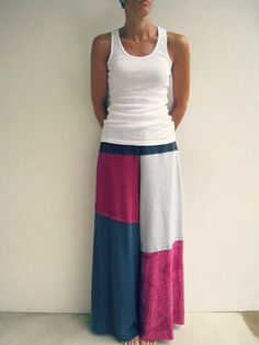 Skirt: Use several old t-shirts and patch them up into a cool skirt.  Source: Etsy user ohzie