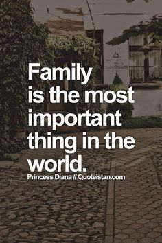 Family is the most important thing essay