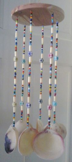 clam shell crafts | Clam shell Chimes / Hand craft / decor - Decorative Figures & Accents