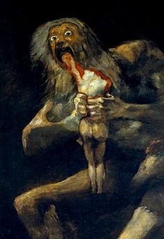 Francisco Goya - Saturn Devouring His Son (Saturno devorando a un hijo) Francisco Goya, Peter Paul Rubens, Spanish Artists, Halloween Art, Happy Halloween, Halloween Horror, Macabre, Oeuvre D'art, Art History
