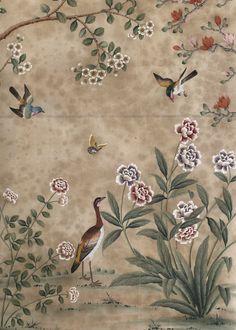 Music Room (#WP1204) by Dessin Fournir   Hand Painted Panels   Dessin Fournir Companies