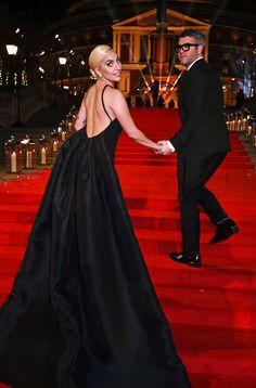 Lady Gaga and designer Brandon Maxwell attend The Fashion Awards 2016 at Royal Albert Hall on December 5 2016 in London United Kingdom