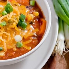 This chunky veggie chili is *pretty* chunky. I have a feeling you won't miss the meat.