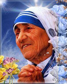 Madre Teresa de Calcuta - Teresa de Calcuta (Uskub, Imperio otomano actual Skopie, Macedonia. *26 de agosto de 1910-Calcuta, India + 5 de septiembre de 1997), de nombre secular Agnes Gonxha Bojaxhiu. Festividad: 5 de septiembre Patronazgo: Jornada Mundial de la Juventud.