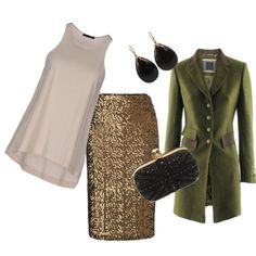 """""""Olive and Gold"""" Winter Dinner by season11 on Polyvore"""