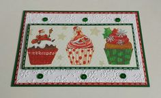 Serviettentechnik,  Christmas, Muffins, Embossing-Folder