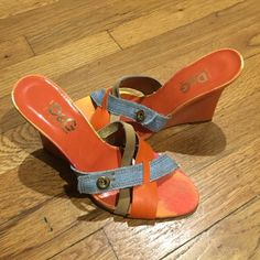 Authentic Dolce&Gabbana Orange Summer Wedges 100% authentic Dolce&Gabbana summer wedges. Excellent condition. Barely worn. Size 37. Extremely cute summer wedges! No box included.  NO TRADES  Dolce & Gabbana Shoes Wedges