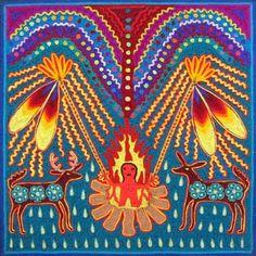 La ceremonia de Tatewari  www.realdecatorce.net/artesania.htm#   Artesano: Antonio Carrillo de la Cruz