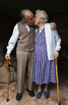 True love, he is 100 she is 99 and together 75