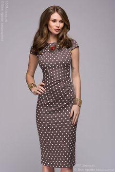 Хлопковое платье в горошек купить в интернет-магазине 1001 DRESS