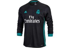 77103215115 adidas Real Madrid L S Away Jersey 2017-18