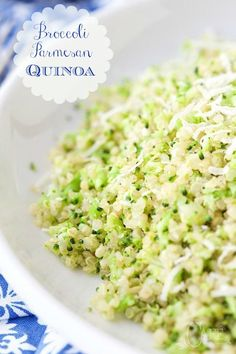 What if you could serve a broccoli dish so delicious that everyone at the table would be begging for more? This Broccoli Parmesan Quinoa Recipe is quick, easy, healthy and a real crowd pleaser! Broccoli Dishes, Parmesan Broccoli, Quinoa Dishes, Food Dishes, Quinoa Broccoli, Side Dishes, Vegetarian Recipes, Cooking Recipes, Healthy Recipes