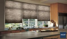 Hunter Douglas Duette® Honeycomb Shades | Available at Avalon Flooring | #windowtreatments #hunterdouglas #kitchenwindowtreatments #honeycombshades #windowshades #cellularshades