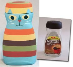 DIY Upcycle Coffee Bottles Idea DIY Upcycle Coffee Bottles Idea by diyforever Diy Bottle, Bottle Art, Bottle Crafts, Bottles And Jars, Plastic Bottles, Garrafa Diy, Diy For Kids, Crafts For Kids, Coffee Jars
