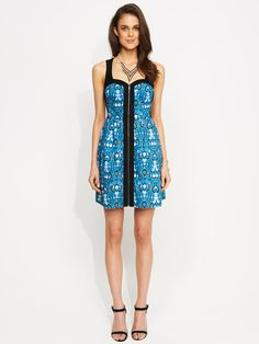 Image for Zip Through Flare Dress from Portmans