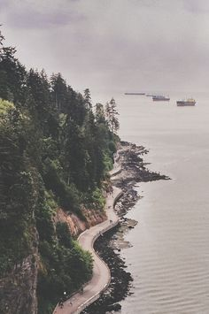 Vancouver - Stanley Park. An aerial view of the seawall. Would love to go back